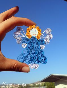 Pleasure in creation: Quilled angel  good ornament -  no step by step instructions  will need to do visually
