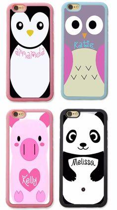 CUTE PANDA OWL PIG BIRD CUSTOM NAME MONOGRAM CASE FOR IPHONE 7 6 6S PLUS SE 5S 5 #UnbrandedGeneric