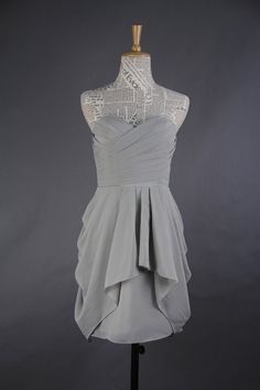 I think this may be the dress girls :)  Grey Bridesmaid Dress Aline Sweetheart Mini by harsuccthing, $86.66