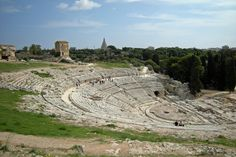 Greek theatre in Syracuse archaeological park , the most visited sight of #Sicily / Teatro greco nel parco archeologico di Siracusa, il luogo più visitato in tutta la Sicilia