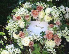 シェ松尾松濤レストラン様の装花 ライラックとジュリアのウエルカムボード : 一会 ウエディングの花