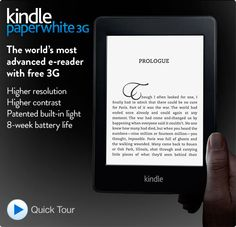 "Kindle Paperwhite 3G, 6"" High Resolution Display with Built-in Light, Free 3G + Wi-Fi - Includes Special Offers,With Special Offers  $179,Pre-order now  Due to popular demand, orders placed today are expected to ship the week of October 15th"
