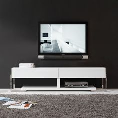 giovanni white white glass twodrawer modern tv stand overstock shopping great