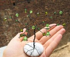 How to Make a Gem Tree (for beginners) with wire and crystals. This DIY Tutorial is fairly easy if you have a basic set of pliers, some wire and beads. Ah, can't wait for spring