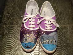 Custom Hand Painted Shoes- Disney Tangled Theme