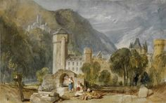 Joseph Mallord William Turner 'Oberlahnstein', 1817 - Watercolour and bodycolour on paper -  Dimensions Support: 198 x 316 mm -  © The British Museum