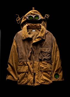 Goggle Jacket in cotton cordura and leather, C.P. Company AW 1986/87. #millemiglia #1000miglia