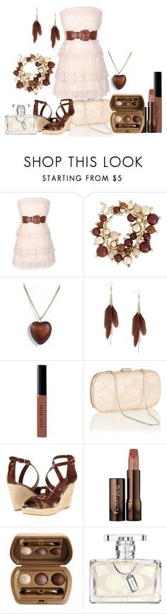 """""""brown and white"""" by dgia ❤ liked on Polyvore featuring Principles by Ben de Lisi, Jules Smith, MOOD, Bobbi Brown Cosmetics, Coast, Burberry, Hourglass Cosmetics and Laura Geller"""