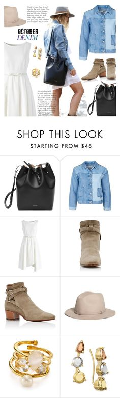 """""""420"""" by believelikebreathing ❤ liked on Polyvore featuring Mansur Gavriel, Topshop, Chicwish, Yves Saint Laurent, Brooks Brothers, Kate Spade and jeanjackets"""