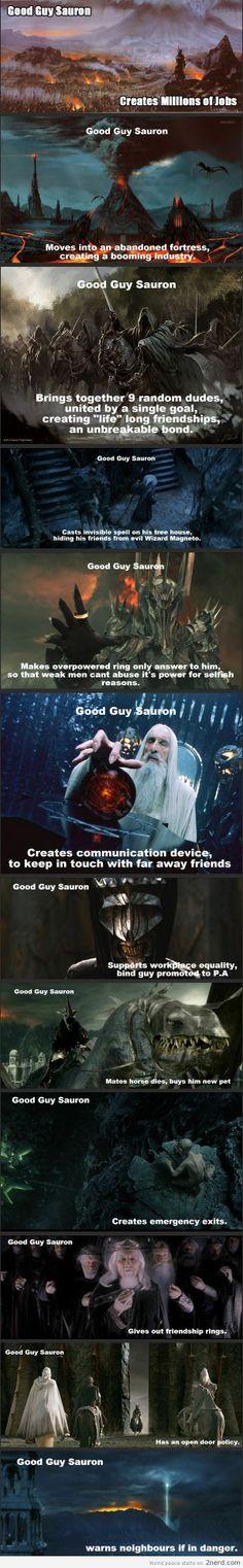 Suaron is just misunderstood - http://2nerd.com/funny-pics/suaron-misunderstood/