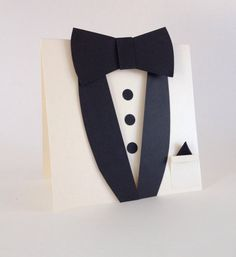 Will you be my Best Man Card, Groomsman Card, To My Groom, Bow Tie Tuxedo Card, Ivory Suit Shaped Ca Tuxedo Card, Tuxedo Bow Tie, Black Tuxedo, Grey Wedding Invitations, Wedding Cards, Asking Groomsmen, Groomsmen Invitation, Little Man Party, Best Man Wedding