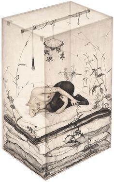 Lee Jinju - Conversation of all those whose lips are sealed (2012) #art #illustration #inspiration