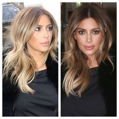 Kim Kardashian: the rooted buttery blonde.