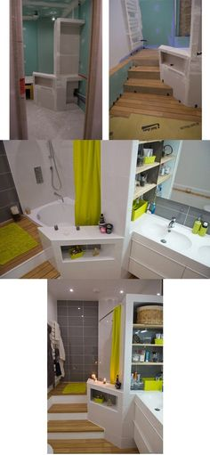 Une cloison de séparation multifonction dans la salle de bain #sal