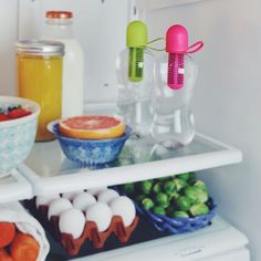 this fridge is our happy place. #bobblelove
