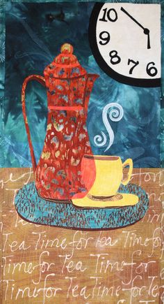 Time For Tea wall hanging quilt pattern by cre8ive quilter at etsy