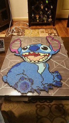Stitch Perler Art by CustomPerlerBeadArt