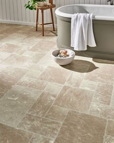 Get your bathroom on trend and introduce a neutral aesthetic! ✨ Our Denver Anzio Stone Vinyl will match your neutral colour palette perfectly offering a modern sleek stone effect 😍 🛒 Order your Free Samples today! #FlooringSuperstore #Flooring #FlooringTrends #WoodFlooring #EngineeredWood #Home #InstaHome #InstaStyle #Interiors #Interior #Laminate #Vinyl #Lvt #Carpet #Carpets #InteriorDesign #Decor #Decorating #HomeDecor #Renovating #HomeSweetHome #Bedroom #LivingRoom #Kitchen #Bathrooms Vinyl Tile Flooring, Vinyl Tiles, Stone Flooring, Quality Carpets, Stair Landing, Neutral Colour Palette, Small Bathroom, Bathrooms