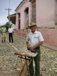 Doughnut seller, Cuba