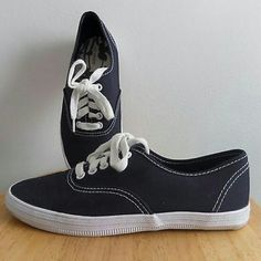 Dark Gray Flat Sneakers Casual flat sneakers.  ---} Price firm unless bundled  *~* Bundle & Save *~* City Sneakers Shoes