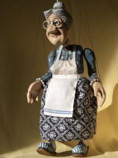 Wonderful puppets by Czech artist- Kubisf @fler kreativni svet. Babička hlídací