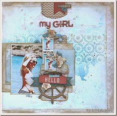 My girl Scrapbook Cards, Scrapbooking, Summer Girls, My Girl, Cover, Books, Art, Art Background, Libros