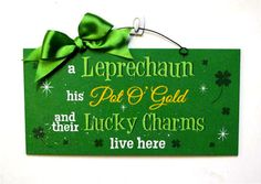 Leprechaun in. sign made from recycled wood for a smooth finish and designed print with acrylic paint accents added. The sign has a clear coat varnish and clear glitter dusted on top for some bling St Patrick's Day Crafts, Holiday Crafts, Holiday Ideas, St Patricks Day Drinks, St Patrick's Day Decorations, Glitter Dust, Irish Blessing, St Paddys Day, Luck Of The Irish