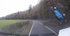 Car-somersaults-through-the-air-on-rural-Welsh-road