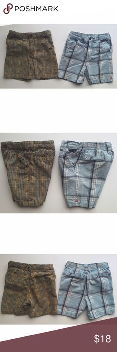Quiksilver Plaid Shorts Bundle Both pairs in great condition with one minor flaw on blue pair (small light orange discoloration on side - see second photo). Quiksilver Bottoms Shorts
