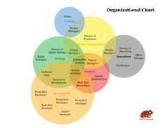 Venn Diagram Org Chart, originally from http://www.metaltoad.com/blog/company-organization-chart-you-can-believe