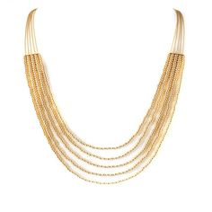 Selma Gold necklace. 20's inpired