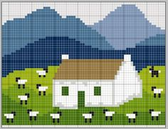 Scottish Cottages 1 pattern / gazette94: COTTAGES ECOSSAIS: