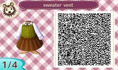 ACNL Sweater Vest + Skirt