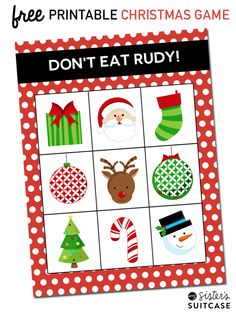 FREE Printable Christmas Game: Don't Eat Rudy is played just like Don't Eat Pete - fun for even the youngest kids!