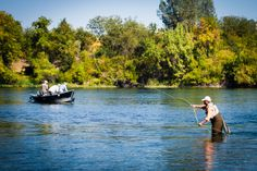 Fishing on the Sacramento River in Redding CA