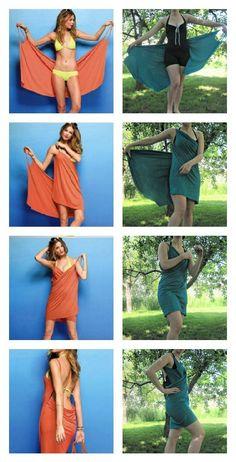 P A & J: DIY Beach Dress Cover Up