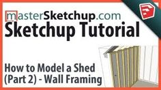 Sketchup Tutorial - Model a Shed (Part - Wall Framing Sketchup Woodworking, Cad Software, Character Design References, Apps, Autocad, Frames On Wall, Designs To Draw, Projects To Try, Model
