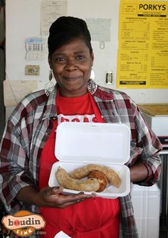 For the most authentic boudin and cracklin' in Alexandria, visit Porky's! #TasteLouisiana