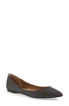 'Moveover' Pointy Toe Flat (Women) in Black/Gunmetal   Nordstrom $50