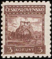 Sello: Orava castle (Checoslovaquia) (Castles, landscapes and cities) Mi:CS 290,Sn:CS 136,Yt:CS 237,AFA:CS 130,POF:CS 224