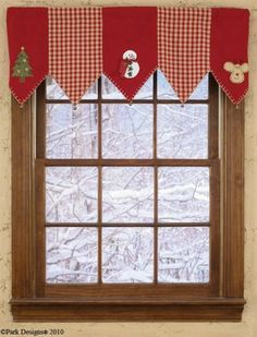 Image detail for -Christmas Tree Mantle Scarf / Valance by Country Village Shoppe Christmas Window Decorations, Christmas Centerpieces, Christmas Home, Christmas Crafts, Christmas Ornaments, Merry Christmas, Christmas Valances, Christmas Tree Collection, Holiday Fun