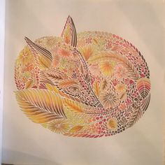 My first colouring ✏ from Millie Marotta's ' Animal Kingdom ' , Mr Fox #MillieMarotta #AnimalKingdom #AnimalKingdomColouring #AdultColouring #Fox #AdultColoring #ColouringBooks #ColouringForGrownUps #ArtTherapy #Creative #GrownUpColouring #GrownUpColoring #ColouringForAdults