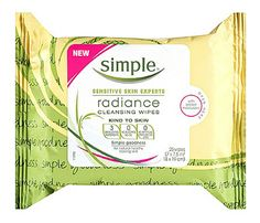 Must-Have Face Wipes: Freshen Up. Besides being uber-gentle on sensitive skin and a bang for your buck, these Simple Kind to Skin Radiance Cleansing Wipes, $6, tout three top of the line ingredients that'll have your skin feeling soft as a baby's butt (yeah, we said it) in no time. Mango extract, glycerin (a powerful humectant that keeps skin hydrated) and bisabolol work together to cleanse skin of impurities, moisturize, minimize shine. #SelfMagazine