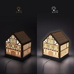 Puzzle Pintoo 3D - Casa con Luz - Half-Timbered House