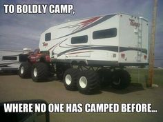 """Where would you take this RV out camping? """"Everywhere"""" doesn't count! LOL #RVing #RVillage"""