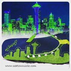 Seattle Skyline flip flops www.seatownsole.com