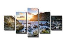 Schilderij-Rocks-in-the-sun-5-delig-(160x80cm)