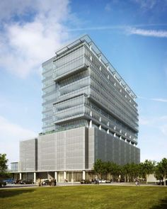 A rendering of 3003 Louisiana, a proposed 16-story office tower slated for Midtown. Photo: Courtesy Of Senterra/Gensler