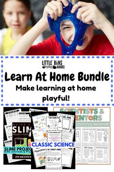 Are you looking to enhance your at home learning or simply to engage your kids at home? This Learn at Home Bundle does both; classroom learning doesn't have to look like home learning. There is no better time to play with your kids while educating them in the concepts of STEM. A few things that you will find in this Learn at Home Bundle for kids are Back to School Packs, Classic Science Packs, Nature Packs, and so much more!