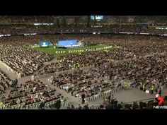 Held from Friday and continuing throughout the weekend, approximately 70,000 delegates from 60 countries will flock to Etihad Stadium for the largest gathering of its kind in Australia. This year's program highlights that Jesus Christ began ruling over God's Kingdom in 1914.